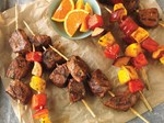 citrus marinated beef fruit kabob