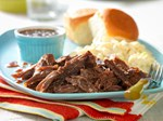 slow cooker molasses shredded beef